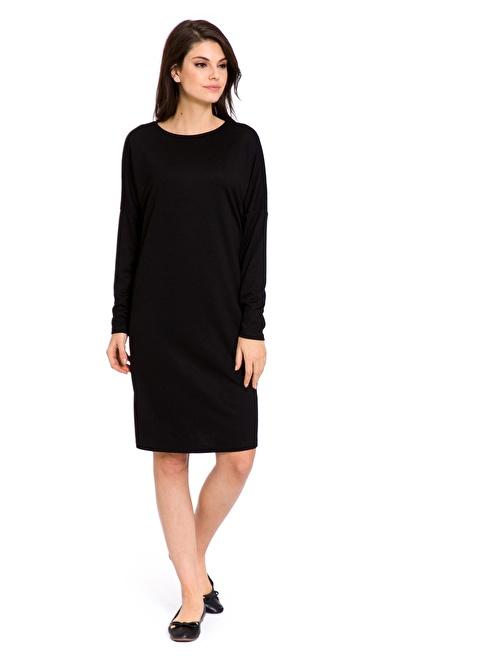 LC Waikiki Uzun Kollu Elbise Siyah